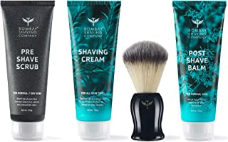 Shaving Essentials Value Kit - Cream, Scrub, Balm, Brush by Bombay Shaving Company