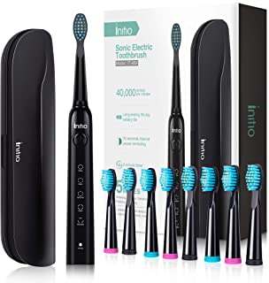 Sonic Electric Toothbrush, 5 Modes with Smart Timer, 8 Brush Heads & Travel Case Included, Rechargeable Toothbrush for Adults, Gum Care Whitening Toothbrush