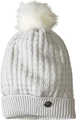 Beulah Knit Hat w/ Faux Fur Pom