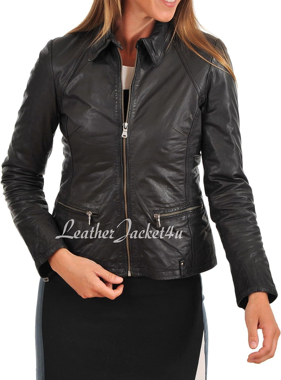 Women's Stylish Genuine Lambskin Leather Jacket 194