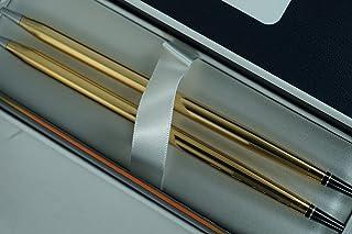 طقم مكتب A.T. CROSS مصنوع في الولايات المتحدة الأمريكية من الذهب عيار 10 قيراطًا ومجموعة أقلام رصاص 0.5 مم.