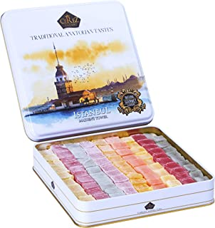 Cerez Pazari Turkish Delight Candy Gift Basket 1kg ℮, Luxury Lokum Dessert Gourmet Christmas Holiday Corporate Food Gifts ...