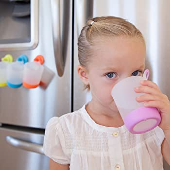 Puj Play + Rinse Cups (Lilac - 2Pack) BPA Free, PVC Free, Dishwasher Safe