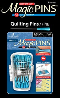 Taylor Seville Originals Comfort Grip Quilting Fine Magic Pins-Sewing and Quilting Supplies and Notions-Sewing Notions-100 Count