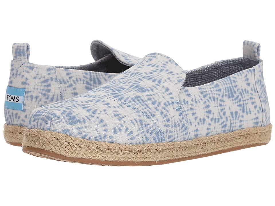 TOMS Deconstructed Alpargata Rope (White Shibori) Women