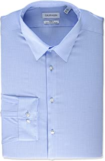 Men's Dress Shirt Slim Fit Non Iron Stretch Check