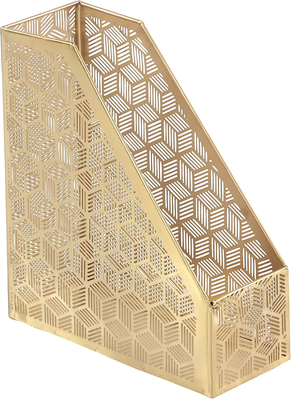 Deco 79 57415 Holder Magazine 激安通販販売 タイムセール Gold