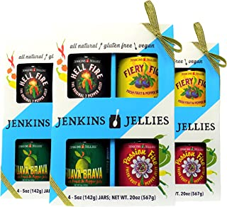 Jenkins Jellies Pepper Jelly Gift Set, Hot Pepper Jelly with Jalapeno, Habanero and Red Peppers, Sweet Spicy Spread for Crackers and Cheese, Excellent Charcuterie Board Jam, Product of California 60oz