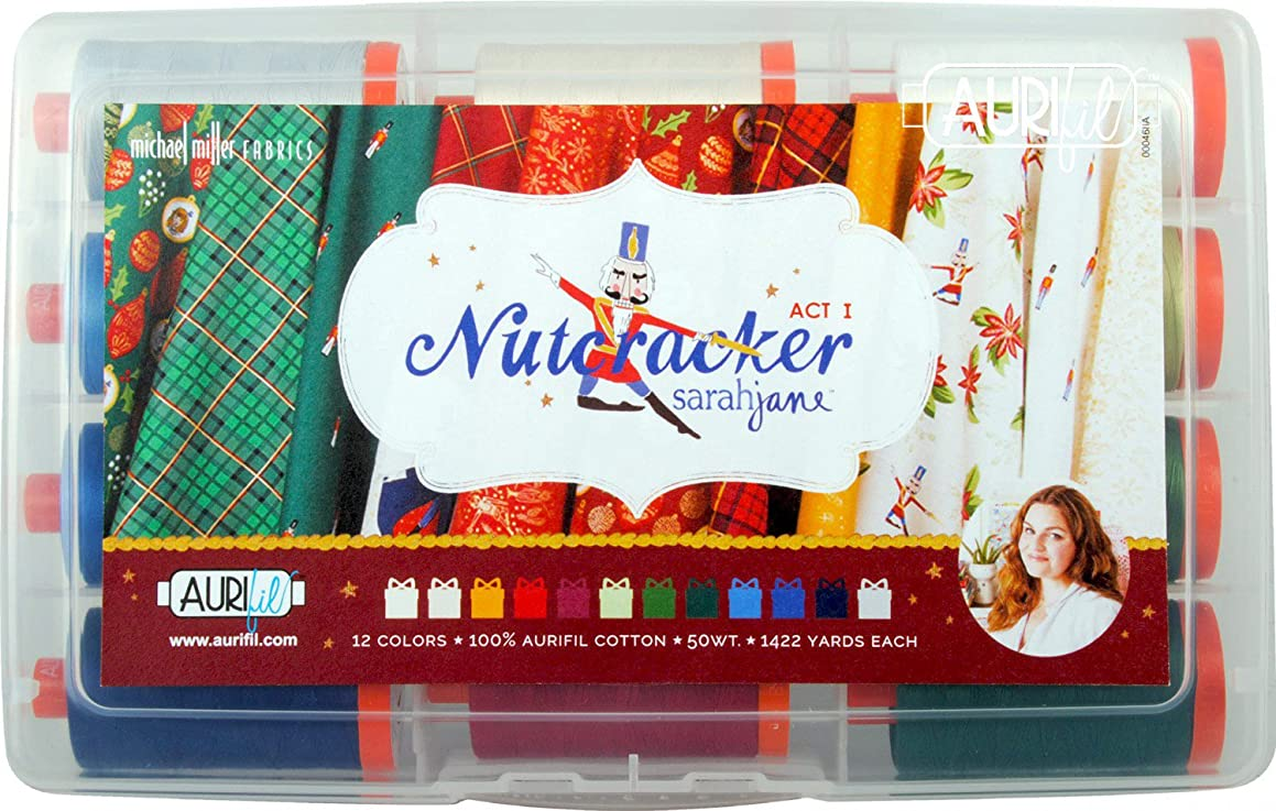 Sarah Jane Nutcracker Act 1 Aurifil Thread Kit 12 Large Spools 50 Weight SJ50NA12