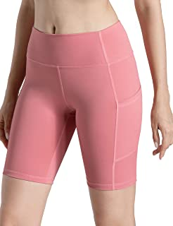 VALANDY Womens Compression Yoga Shorts High Waist Fitness Workout Shorts for Women with Pockets