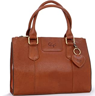 Gigi - Women's Mid-Size Leather Tote Handbag - Top Handle Bag - GIOVANNA 9046