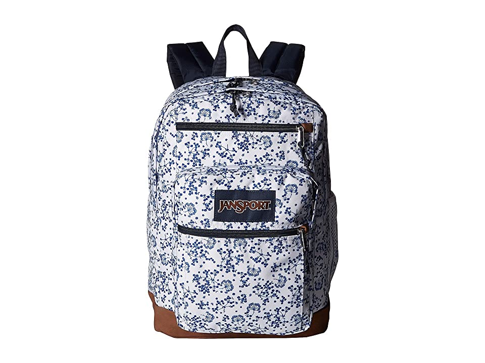 JanSport Cool Student (White Field Floral) Backpack Bags, Multi