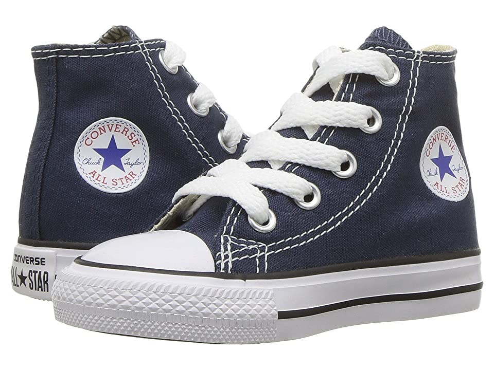 Converse Kids Chuck Taylor(r) All Star(r) Core Hi (Infant/Toddler) (Navy) Kids Shoes