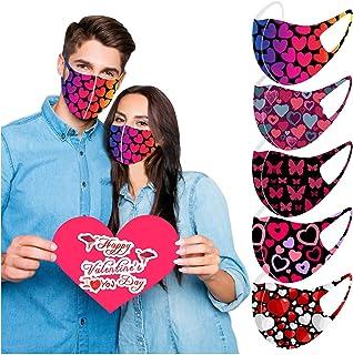 5 PC de tela pareja de San Valentín,colores, cobertura confiable,reutilizables
