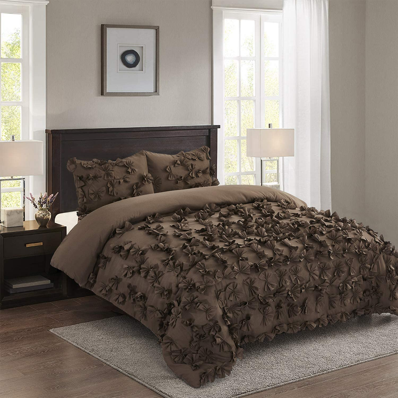HIG 3 Piece Comforter Set Flow 人気ショップが最安値挑戦 -Microfiber 開催中 Butterfly One Hundred