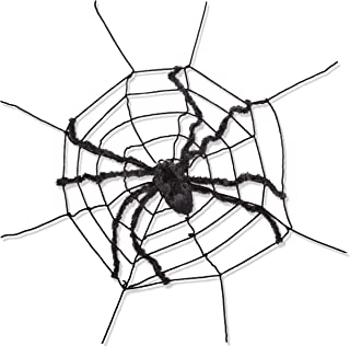 Narwhal Novelties Giant 5 Foot Furry Spider Web Attached Spider, 12