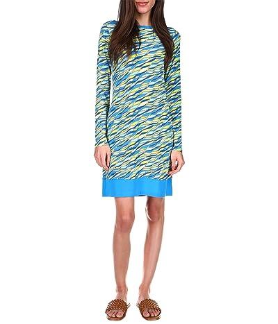 MICHAEL Michael Kors Long Sleeve Border Dress