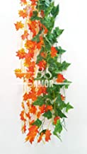 BS AMOR Artificial Creeper 6(3Green + 3 Orange) | Wall Hanging | Speacial Ocassion Decoration | Home Decor Party | Office ...