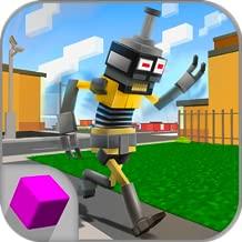 Cube Steppy Sim: Pixel World Walking Steps Dummy Simulator | Pixel Runner Walker Texas Dummy Dismount | Cube Run Steppy Street