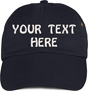 Soft Baseball Cap Custom Personalized Text Cotton Dad Hats for Men & Women. Embroidered Your Text