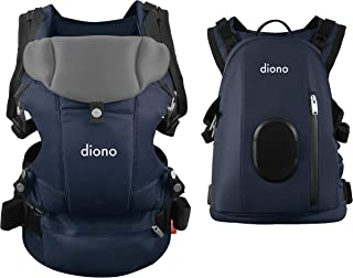Diono Carus Complete 4-in-1 Child & Baby Carrying System with Detachable Backpack, Navy