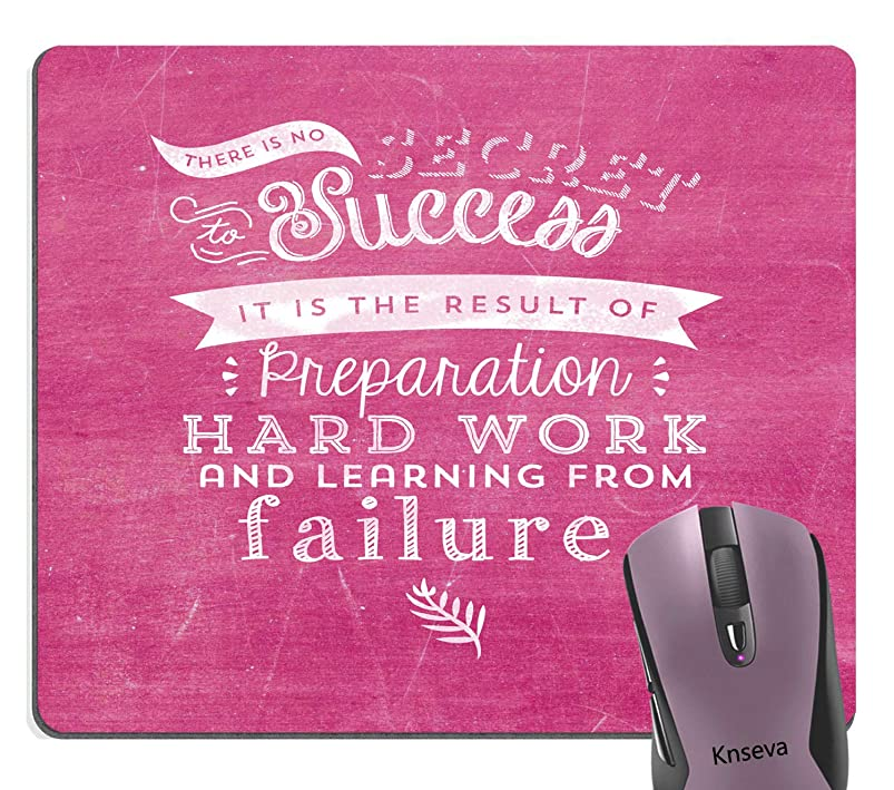 Knseva There is No Secret to Success Motivational Quotes Mouse Pad Hard Work Inspirational Quote Girly Pink Mouse Pads vrmfabcz061454