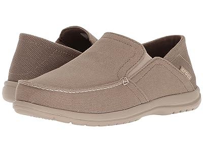 Crocs Santa Cruz Convertible Slip-On (Khaki/Cobblestone) Men