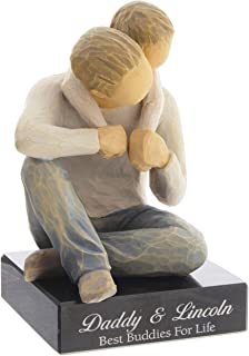 DEMDACO Willow Tree That's My Dad Figurine with Personalized Engraved Marble Base