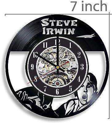 Gifts by N Steve Irwin Vinyl Record Wall Clock, Steve Irwin Decor, Steve Irwin The Crocodile Hunter, Steve Irwin Artwork, Steve Irwin Wall Art, Steve Irwin Art