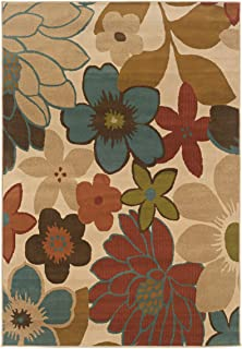 Oriental Weavers Floral Pattern Contemporary Area Rug (3 ft. 3 in. L x 1 ft. 10 in. W)