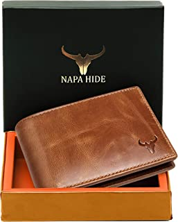 Napa Hide RFID Protected Genuine High Quality Leather Wallet for Men,Brown