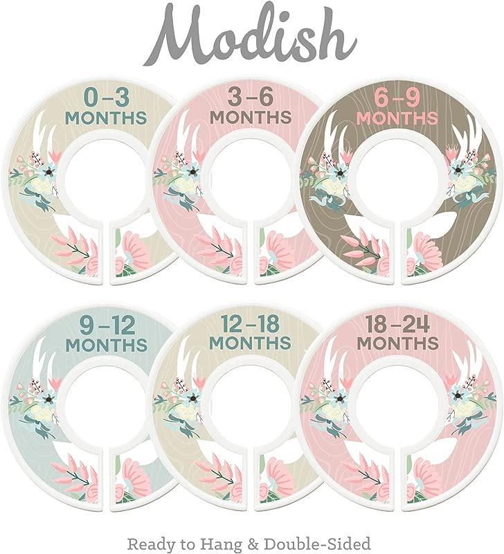 Modish Labels Baby Nursery Closet Dividers Closet Organizers Nursery Decor Baby Girl Deer Floral Antlers Flowers Woodland