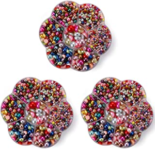 Yesland 5805 Pcs Half Flatback Pearl Bead - Colorful Cabochon Flat Back Pearl & Loose Beads Gem with Plastic Case for Craf...