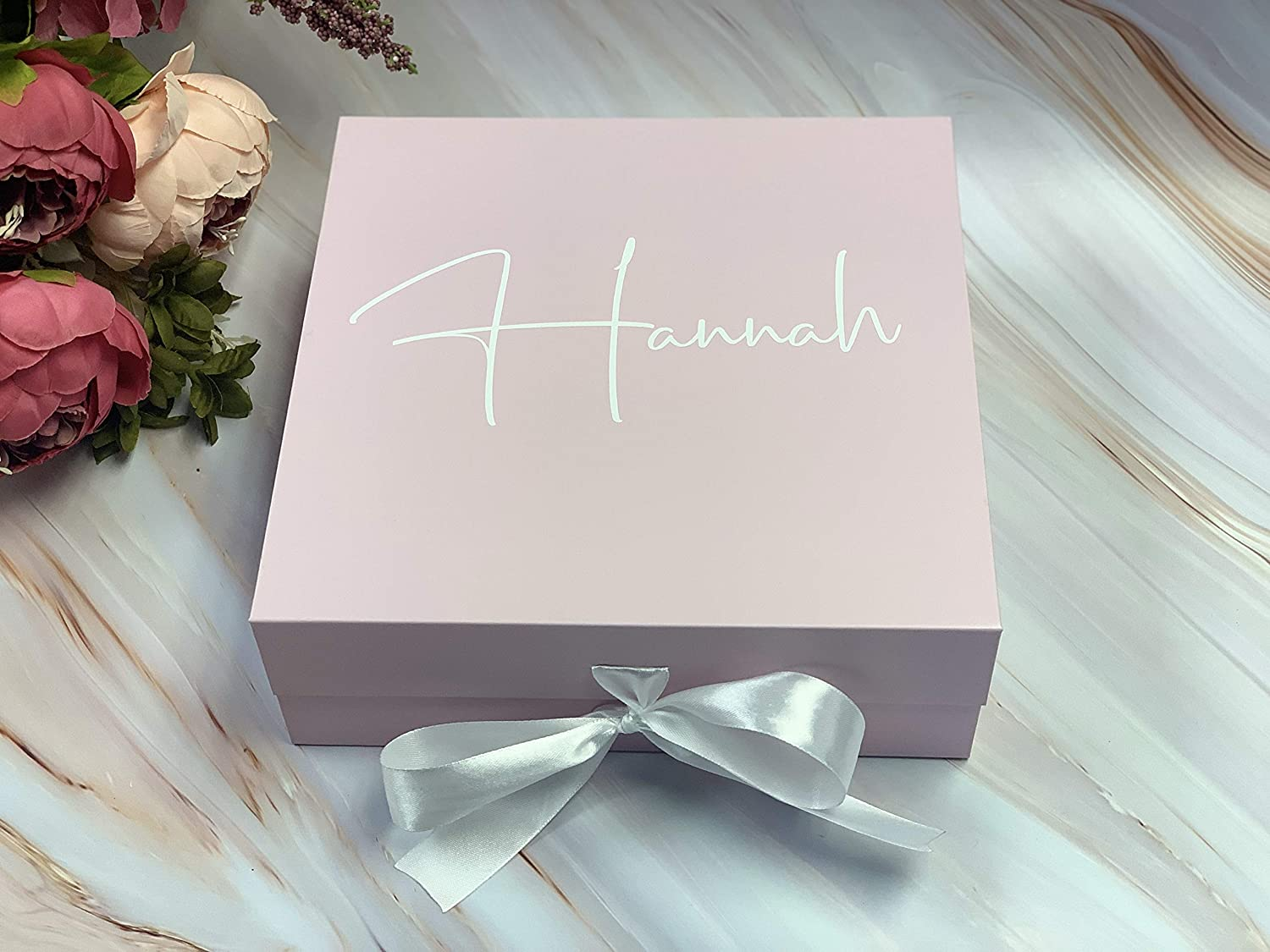 Gift Box Folding Magnetic Lid with Bowtie Heavy Weight Cardboard Non Flimsy Fancy Paper Bridesmaids Groomsman Proposal Box for Bridal Party Black, 9 x 9 x 3.25