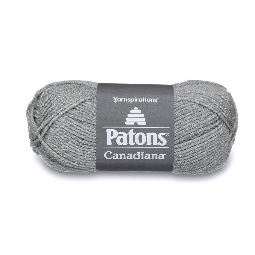 Patons Canadiana Yarn, Pale Grey Mix