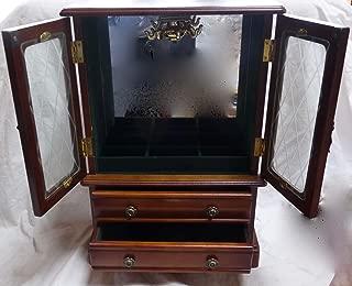 Jewelry Box Croft & Barrow Wooden Mirrored 2 Door 2 Drawer