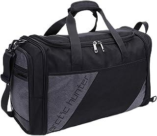 حقيبة مقاومة للماء قابلة للطي، حقيبة يد رياضية كبيرة الحجم مع مقصورة للحذاء وجيب منفصل رطب جاف للرجال والنساء