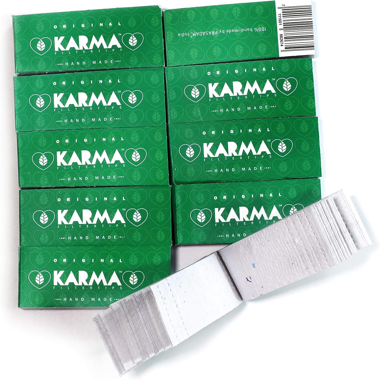 Karma 10 booklets Perforated Handmade Filt Regular shop Biodegradable OFFer