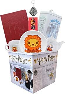 Underground Toys Harry Potter Gryffindor House LookSee Box | Contains 7 Official Harry Potter Themed Gifts Including Gryffindor Journals, Magnets, & More | Square Gift Box Measures 7.75 Inches