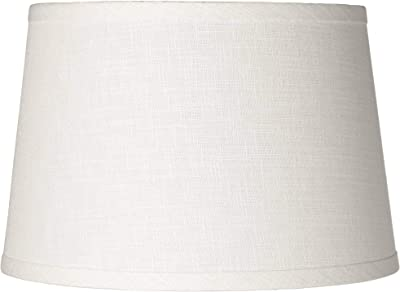 White Horizontal Pleat Drum Small Shade 11x11x7 5 Spider
