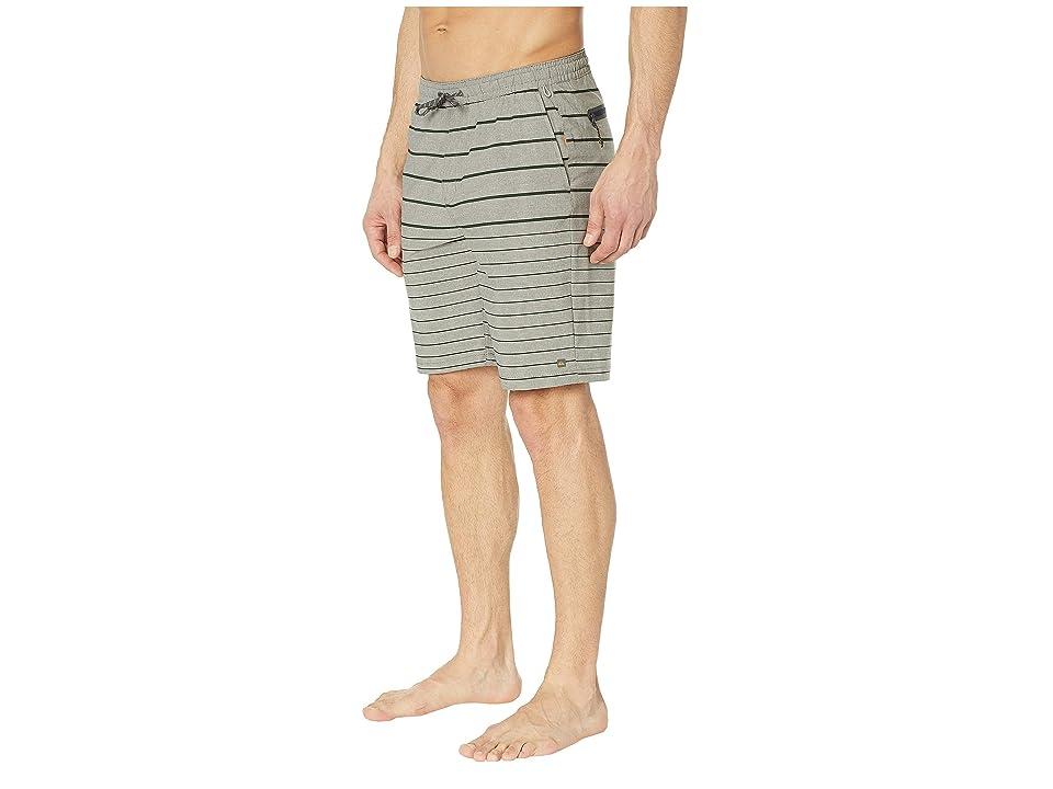 Quiksilver Waterman Suva Stripe Amphibian 20 (Ivy Green) Men's Swimwear