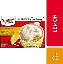Duncan Hines Mug Cakes Lemon Flavored Cake Mix with Vanilla Frosting, 13 OZ