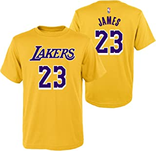 b2824c9a0 Outerstuff Lebron James #23 Los Angeles Lakers Youth Dri-Fit Clima-Lite T