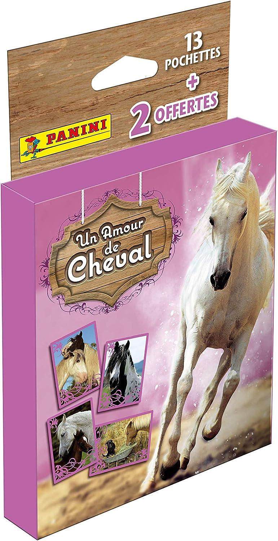 Panini France SA-Un Amour de Cheval-Blister de 13 pochettes + 2 OFFERTES Un Amor de Caballo Fundas + 2 (004259KBF15)