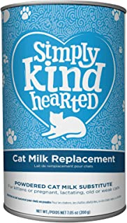 Simply Kind Hearted Cat Milk Replacement - Powder for Kittens and supplementary Feeding for Young and Adult Cats - 1 Box