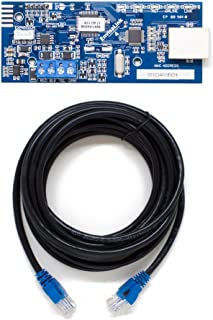Eyez-On EnvisaLink EVL4-EZR IP Interface Module for DSC and Honeywell (Ademco) Security Systems Bundle with Blucoil 14-FT 1 Gbps Cat5e Cable, Compatible with Alexa