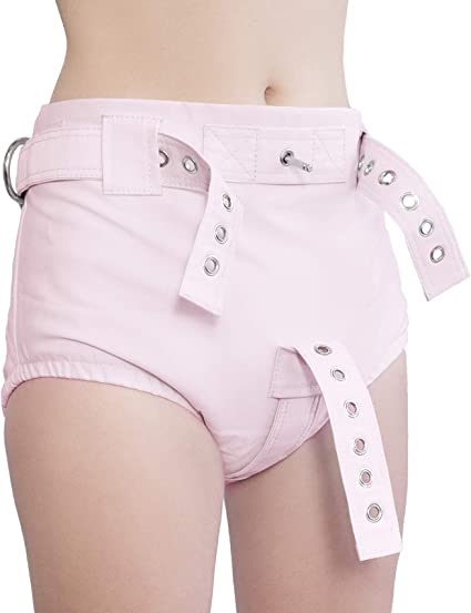Heavy Ecru Anti-Diaper Removal Shorts with Segufix Locks and Key XS