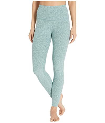Beyond Yoga Spacedye High-Waist Midi Leggings (True Teal/White) Women