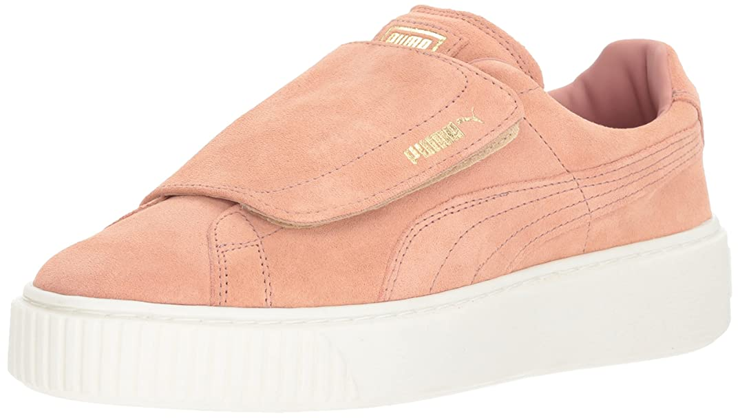 注入気球落ち着かないPuma Women's Suede Platform Strap Leather Fashion Sneaker