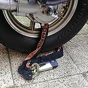 Buddygo Motorrad Bremsscheibenschloss Motorradschloss 7mm 110db Anti Diebstahl Alarm Für Motorrad Und Fahrrad Mit 1 5m Erinnerungskabel Verpackung Mehrweg Auto